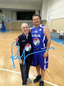 Coach Dan Peterson e Luca Allegrini